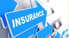 Insurance on a blue arrow
